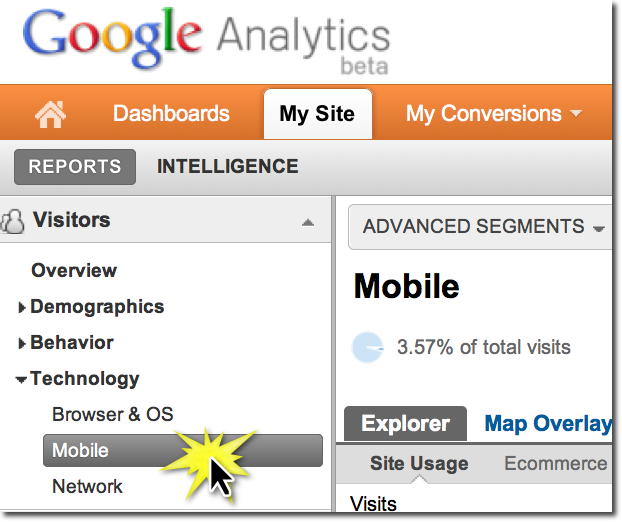 Google Analytics Measures Mobile Visitors