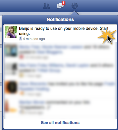 Facebook AppCenter Mobile Notice
