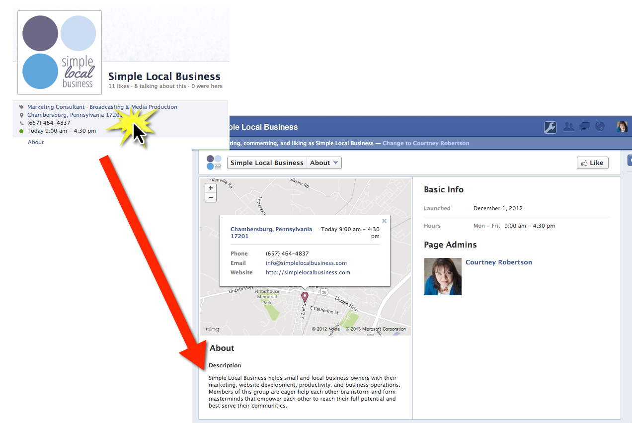 Facebook About Business