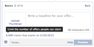 facebook offer terms