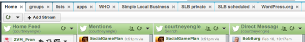 hootsuite tabbed display
