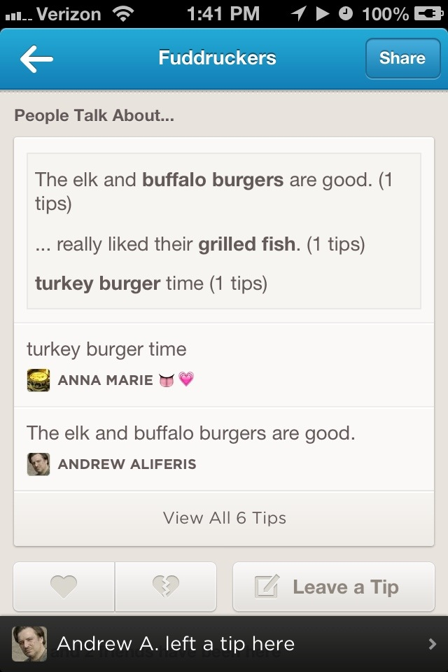 Foursquare Reviews