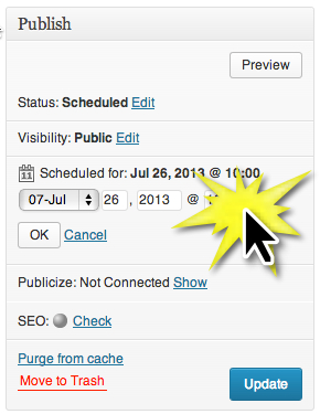 Schedule WordPress Posts