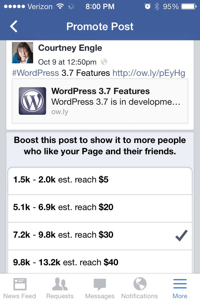 Create Facebook Mobile Ad