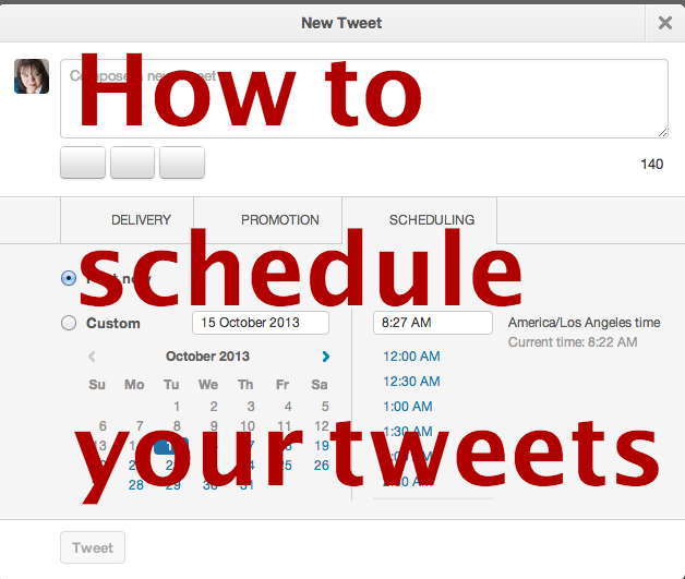 How to Schedule Your Twitter Status Update