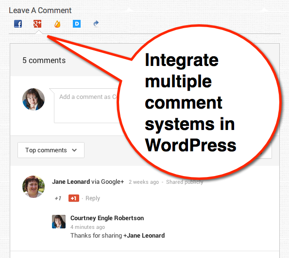 comments evolved multiple comment systems for WordPress