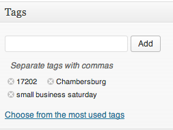 wordpress tags location based marketing