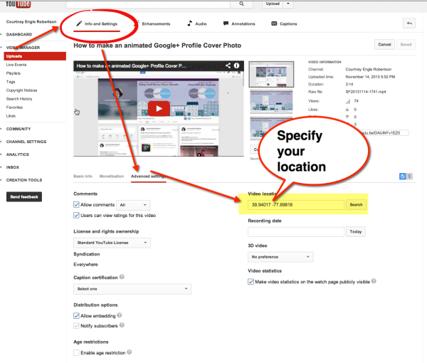 youtube location based marketing