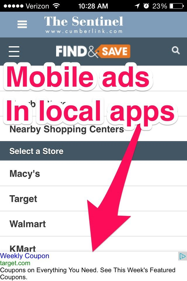 mobile ads for local and small business