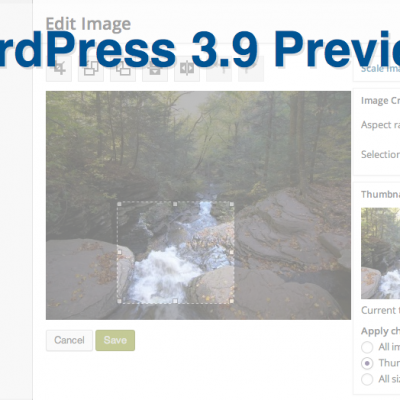 WordPress 3.9 Preview