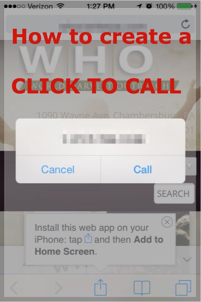 How to Make Your Phone-number on Your Website Click to Call