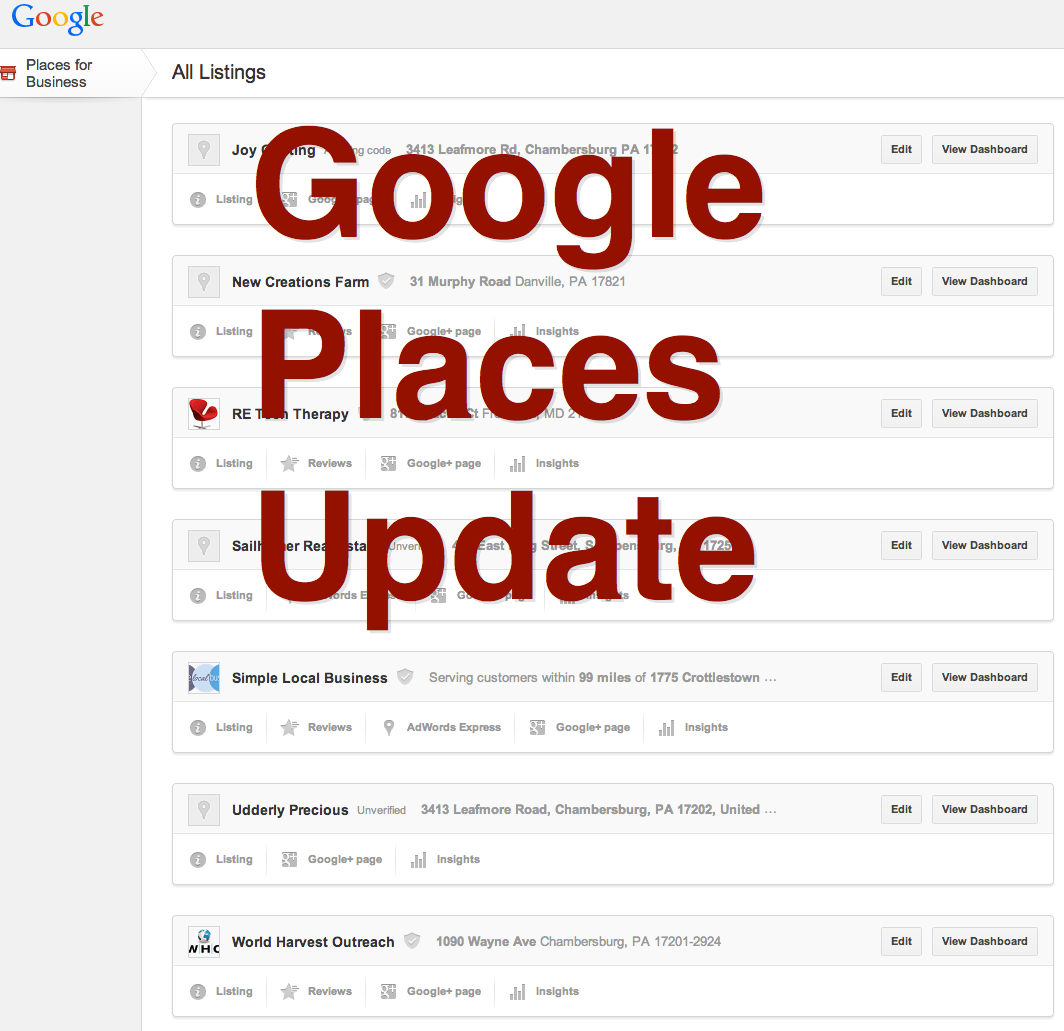 google places update #localseo