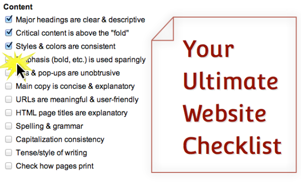 your ultimate website checklist