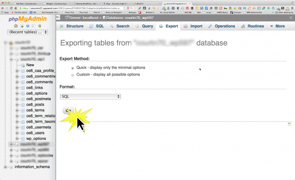export php