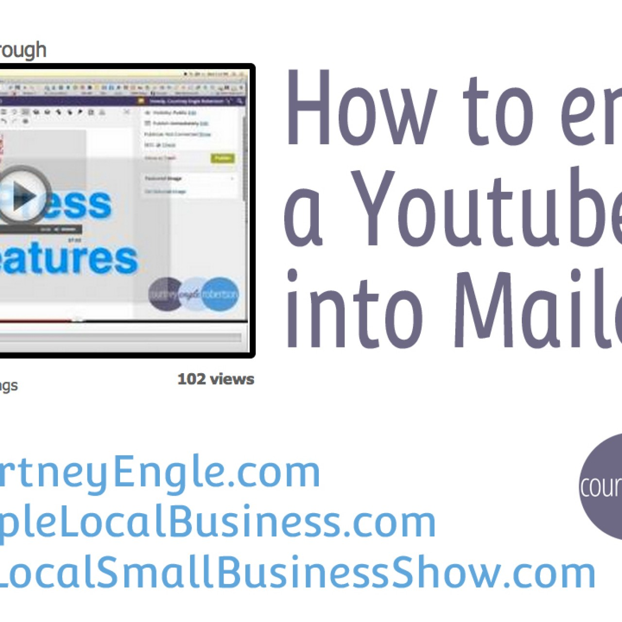 How to embed a Youtube video into Mailchimp