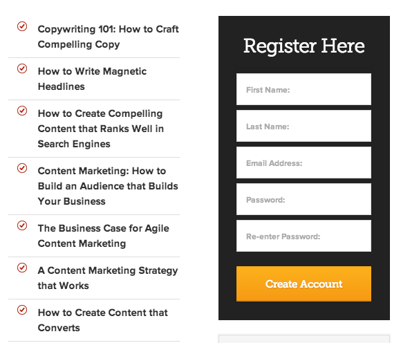 landing page email opt in