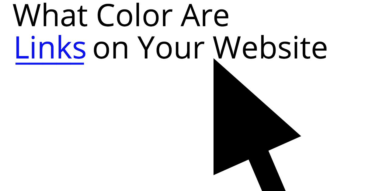 What color are your website links? #usability