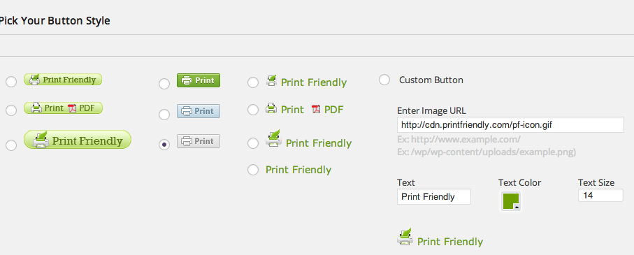 Print Friendly and PDF Button for Printer Friendly websites